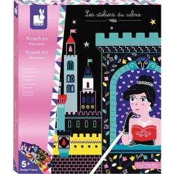 Kreativní sada vyškrabovací obrázky Princezny Janod Atelier Maxi