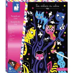 Kreativní sada vyškrabovací obrázky Kočky Janod Atelier Maxi