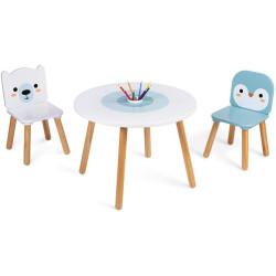 Janod Dřevěný stolek se židlemi pro děti