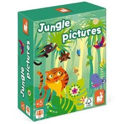 Logická hra pro děti Obrázky z džungle Janod od 5 let