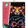 Janod vyškrabovacie obrázky Zvieratá Masky a Okuliare Atelier Sada Mini 5+