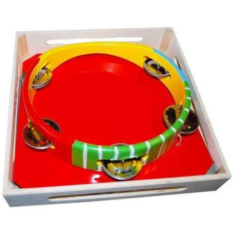 HJ Toys Tamburína barevná