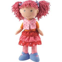 Textilní měkká hadrová panenka Lilli-Lou Haba 30 cm pro děti od 1 roku