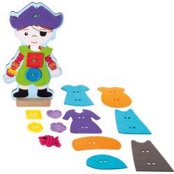 Small Foot Provlékací hra oblékání piráta