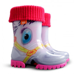 Demar Twister lux PRINT HA (pony) - Dětské gumáky