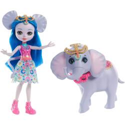 Mattel Enchantimals panenka se slonem Ekaterina Elephant & Antic