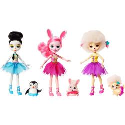 Mattel Enchantimals 3 ks baletka s mazlíčkem