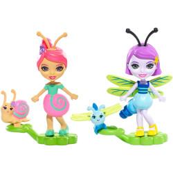 Mattel Enchantimals 2-Pack Saxon Snail & Dara Dragonfly FXM89