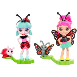 Mattel Enchantimals 2-Pack Baxi Butterfly & Ladelia Ladybug FXM87