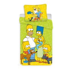 Jerry Fabrics povlečení Simpsons green 02 140x200 70x90