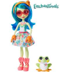 Mattel Enchantimals Panenka se zvířátkem Tamika Tree Frog & Burst
