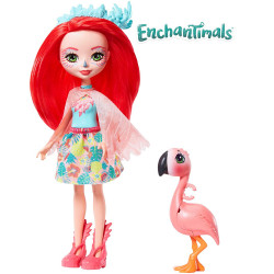 Mattel Enchantimals Panenka se zvířátkem Fanci Flamingo & Swash
