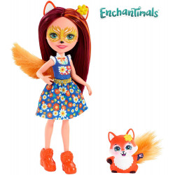 Mattel Enchantimals Panenka se zvířátkem Felicity Fox & Flick