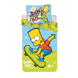 Jerry Fabrics povlečení Bart skater 03, 140x200 70x90
