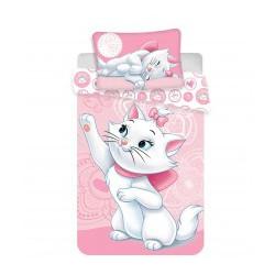 Jerry Fabrics povlečení Marie Cat pink 100×135 cm + 40x60 cm