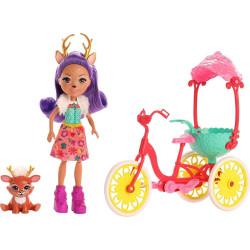 Mattel Enchantimals Herní set na kolech Danessa