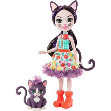 Mattel Enchantimals Panenka se zvířátkem Ciesta Cat & Climber