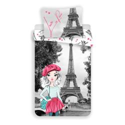 """Jerry Fabrics povlečení Paris """"Grey"""" 140x200 70x90"""