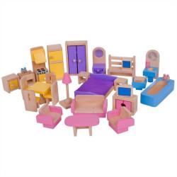 Bigjigs Toys Dřevěný nábytek do domečku pro panenky