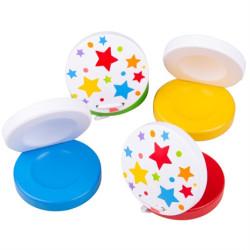Bigjigs Toys Kastaněty hvězdičky 1 ks červená