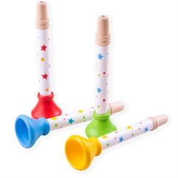 Bigjigs Toys Trumpetka hvězdičky 1 ks zelená
