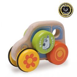 Wonderworld Dřevěné autíčko Pejsek