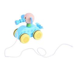 Bigjigs Toys Tahací hračka na provázku slůně
