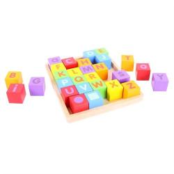 Bigjigs Baby Dřevěné kostky s abecedou