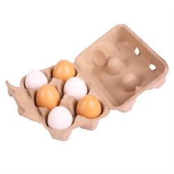 Bigjigs Toys Vajíčka v krabičce 6 ks