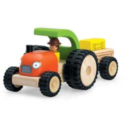 Wonderworld Dřevěný mini traktor